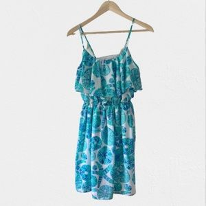 Lilly Pulitzer For Target Turquoise Flounce Dress
